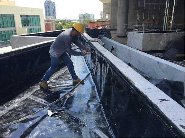 Slurry For Waterproofing Construction Joints In Pools : Waterproofing salomon roofing and construction